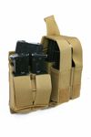 Molle M16 Double Mag With 9mm 4-Mag Pouch With Hard Insert